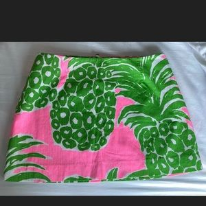 Lilly Pulitzer Tate Skirt Pink Pout Flamenco
